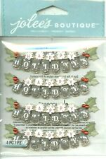 CHRISTMAS Banner Happy Holidays Holly Repeat Jolee/'s Stickers