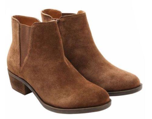 NEW Kensie Ladies' Garry Garry Ladies' Short Heel BROWN Suede Size 10 Booties Boots Shoes NIB! ca9b60
