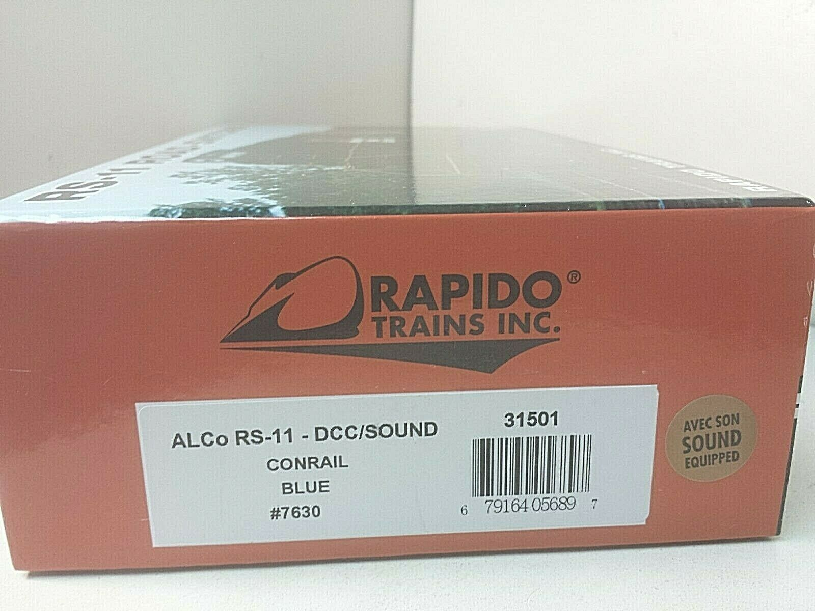 Rapido HO 31501 Alco RS-11 Conrail Railroad 7630 NEW (DCC & LokSound)