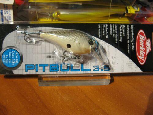 "Berkley 3.5 Slow Rise PitBull 2/"" Rattle Fishing Lures 1//4 Oz Honey Shad"