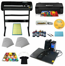 "A3 Heat press Printer, 34"" Vinyl Cutter Ink Paper T-shirt Transfer Start-up Kit"