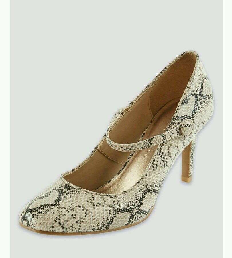 BNWT M&S Collection Insolia Court Neutral Snake Print Stiletto Dolly Court Insolia Shoes 034fc7