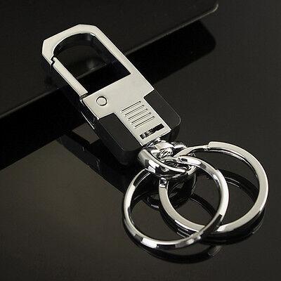 New Fashion Men Metal Car Key Chain Ring Creative Keyring Keychain Keyfob Gift