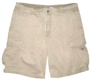 OLD-NAVY-LIGHT-KHAKI-VINTAGE-DISTRESSED-MILITARY-CARGO-MENS-SHORTS-38-40