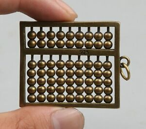 47MM-Collection-Chinese-Bronze-Abacus-Counting-Frame-Abaci-Amulet-Pendant-Statue