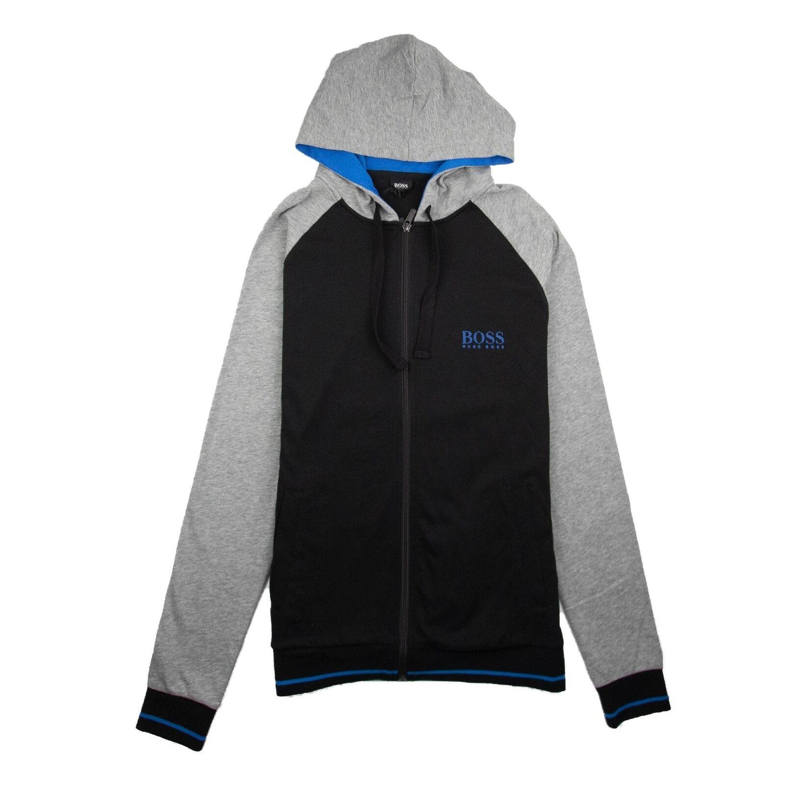 Hugo Boss Authentic Logo Zip Up Hoody schwarz Blau A1