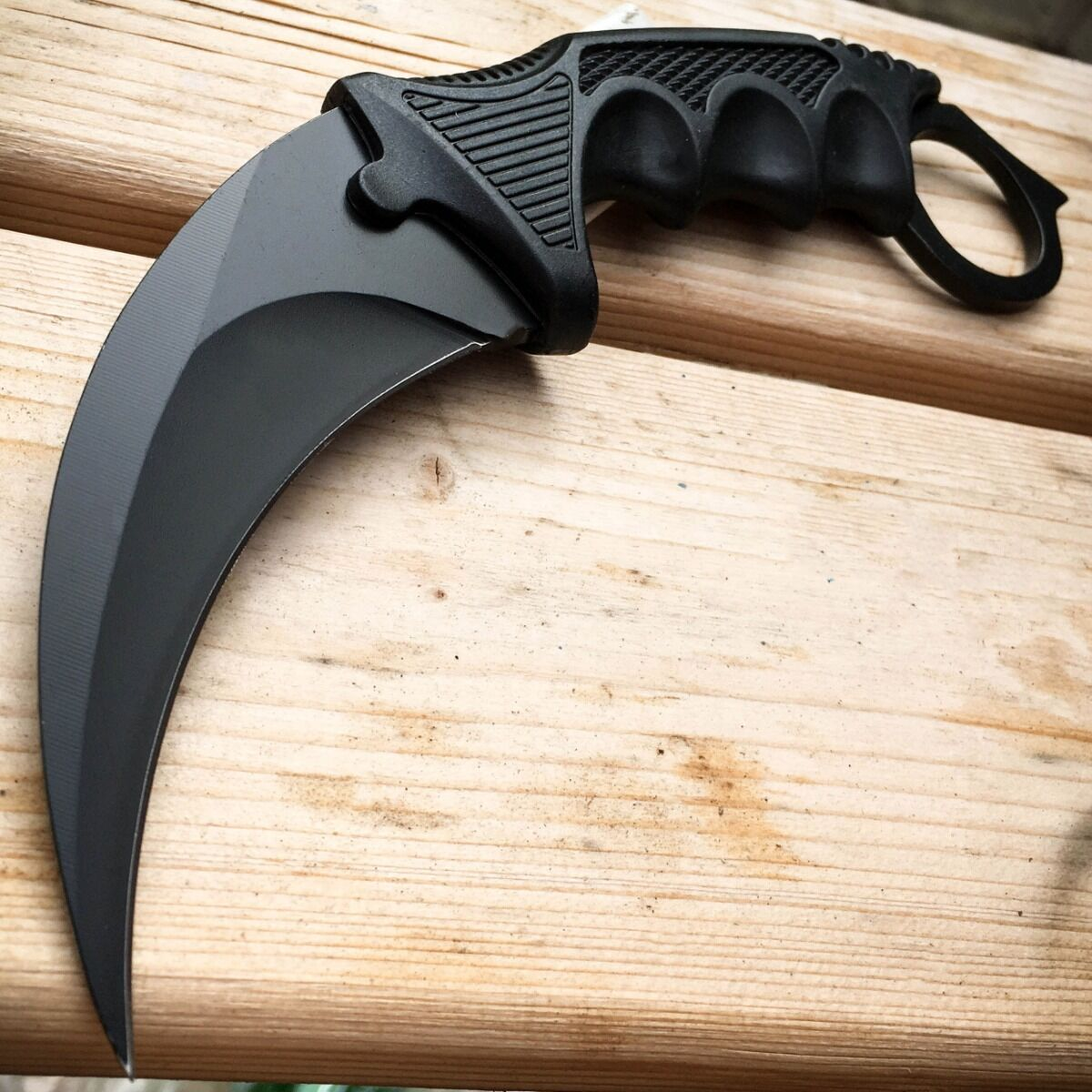 TACTICAL COMBAT KARAMBIT NECK KNIFE Survival Hunting BOWIE Fixed Blade + SHEATH