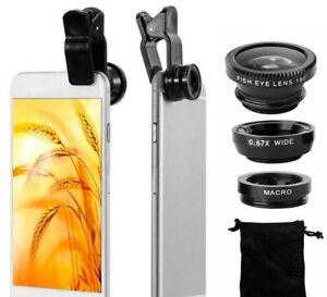 LENTI SMARTPHONE Kit3in1 Fisheye Macro Grandangolo Lenti per Smartphone Obiettiv