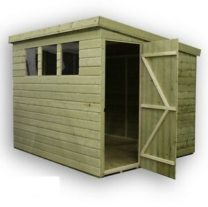 image is loading garden shed 10x7 shiplap pent roof windows pressure