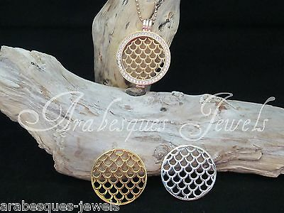SMALL COIN/MONEDA SNAKESKIN/SCALES FOR GENUINE MI MILANO NECKLACE/CARRIER/LOCKET