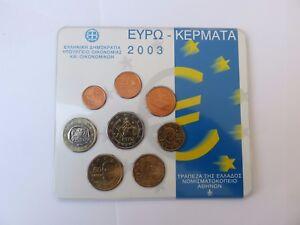 Coffret BU 1 Cent à 2 Euro Grèce 2003    CPS