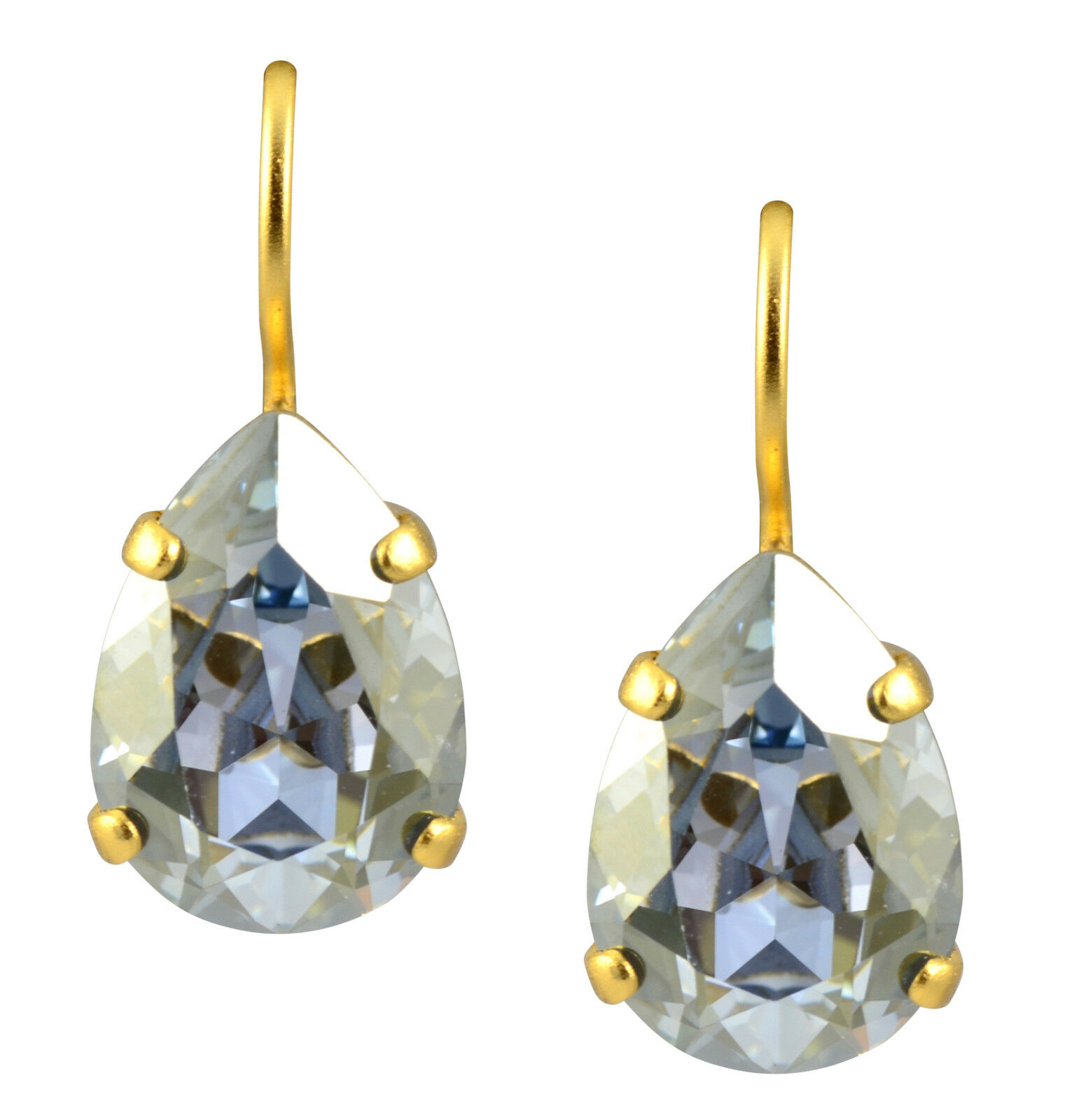 Mariana gold Plated Raindrop Drop Earrings in Moonlight