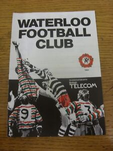 03-11-1984-Rugby-Union-Programme-Waterloo-v-Liverpool-Northern-Merit-Game-fo