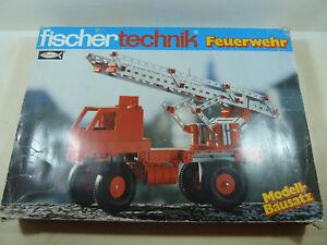 Fischertechnik-Construccion-Bomberos-con-Manual-de-Instrucciones-sin-Hidraulico