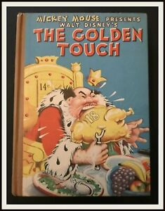 THE-GOLDEN-TOUCH-with-dust-jacket-Whitman-1937-DISNEYANA-IT