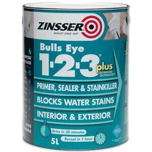 Zinsser Bulls Eye 123 plus Primer Versiegeler Stain Block Killer ...
