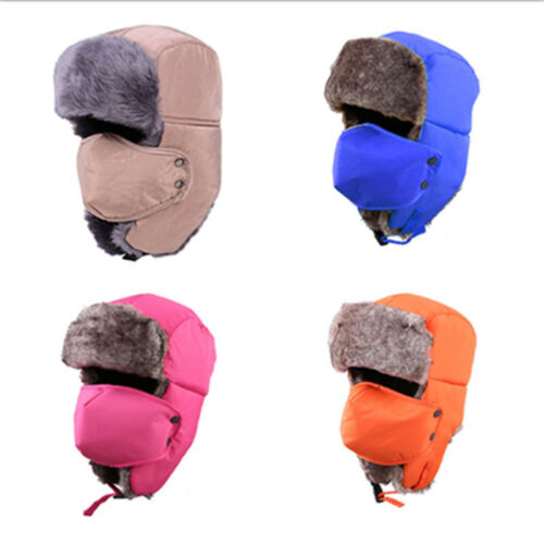 US Unisex Outdoor 2018 Winter Trapper Aviator Trooper Earflap Warm Ski Mask Hats