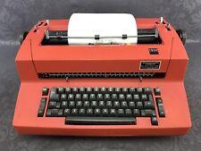 Ibm Selectric Electric Typewriter Red Mod 82 Vintage Working