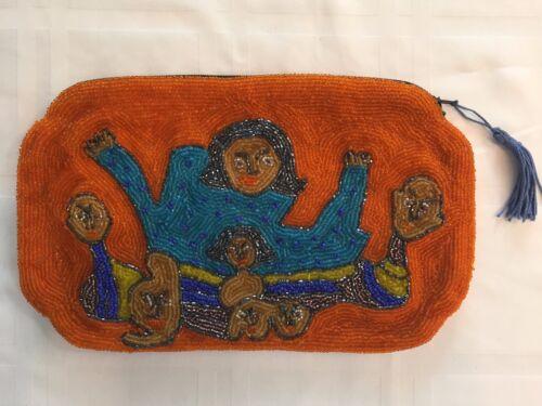 Beaded abstracte op kunst avond portemonnee kunstenaar tas ondertekend Clutch handtas wmONv8n0