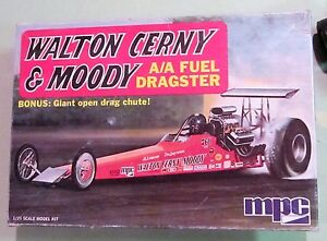 Details about MPC Walton Cerny & Moody A/A Fuel Rail Dragster Vintage Drag  Built Kit w/ Boxtop