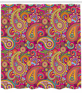 Shower-Curtain-Paisley-Fancy-Colorful-Authentic-Patterns-70-Inches-Long