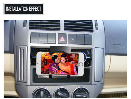 Single Din Car Audio Stereo MP3 Player Bluetooth FM Radio AUX with Phone Holder
