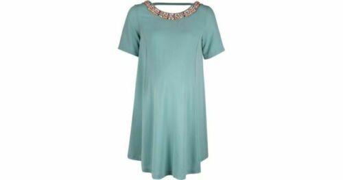 Maternity Rock-a-Bye Rosie Chiffon Bead Neck Mint Dress Size 8 to 18