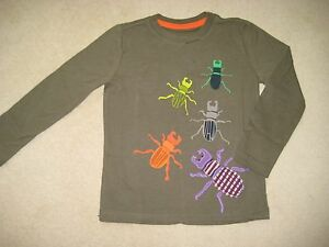 Mini-Boden-estampado-amp-aplicacion-camiseta-ESCARABAJOS-INSECTOS-1-5-12-ANOS