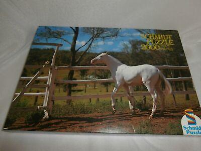 """"""" """"schmidt Puzzle 2000 Pezzi Ovp Cavallo Bianco Su Cinturone 97/69 Cm Bianco Stallone-mostra Il Titolo Originale"""