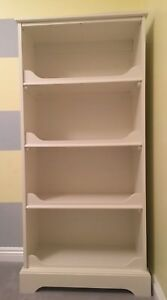 Pottery Barn White Bookshelf Perfect Condition 4 Shelves