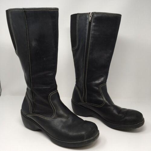"""L.L. Bean Womens Riding Boots Side Zip 14"""" Shaft E"""