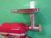 Stainless Steel Meat Grinder For Kitchenaid Mixer By Smokehouse Chef®