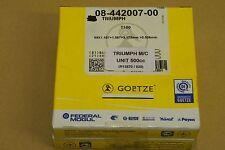 TRIUMPH UNIT 500 5TA T100 DAYTONA 0.020 O/SIZE PISTON RING SET  AE FEDERAL MOGUL