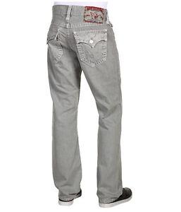 c63fa8875  319 NEW True Religion Jeans Men Ricky Grey Straight Leg Super T ...