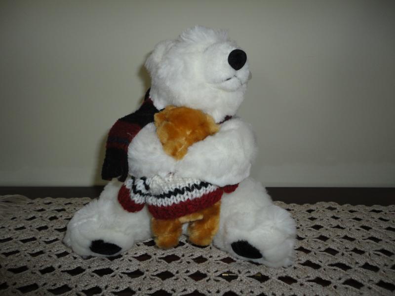Chrisha Creations Polar Bear Mom with Baby 1988