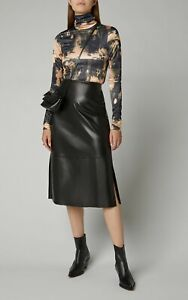 Acne-Studios-NEW-Bleached-Abstract-Graphic-Stretchy-Satin-Turtleneck-Eryn-Top-S