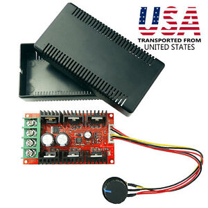 12V 24V 48V DC Motor Speed Control Adjustable Switch PWM HHO RC Controller