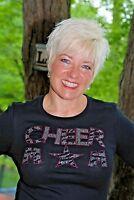 Cheerleader Cheer Mom Rhinestone Bling Shirt Xs S M L Xl Xxl 1x 2x 3x 4x 5x