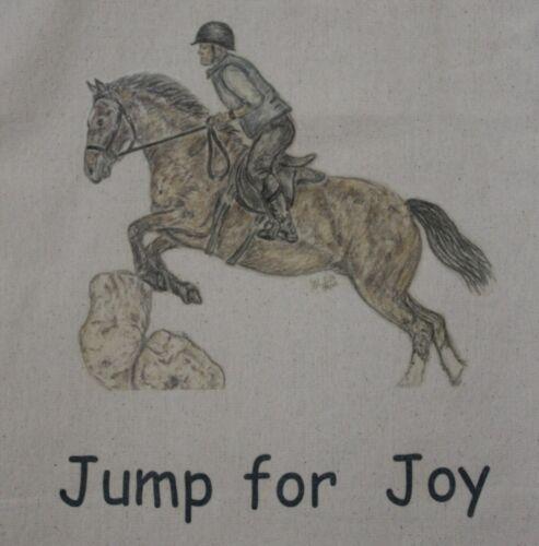 Horse bags Cotton or Canvas 5 sizes//colours multiple unique drawn designs