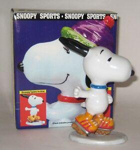 Retired Peanuts Snoopy Ceramic Figurine NIB In-Line Extreme Roller Skater