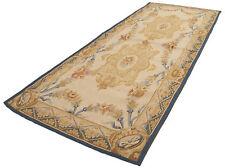 COM-1415-Carpet Aubusson NeedlePoint Handmade Original 183x76 GalleriaFarah1970