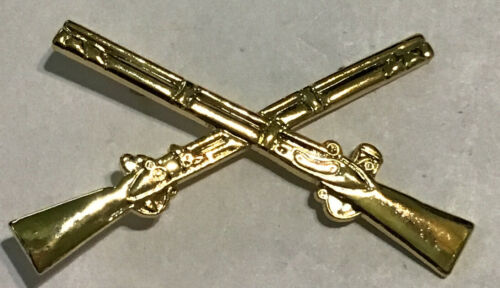 """HAT PIN INFANTRY CROSSED RIFLES New 1 1//4"""" NEW"""