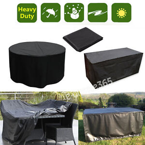 S M L Xl Table Waterproof Outdoor Garden Furniture Cover Round