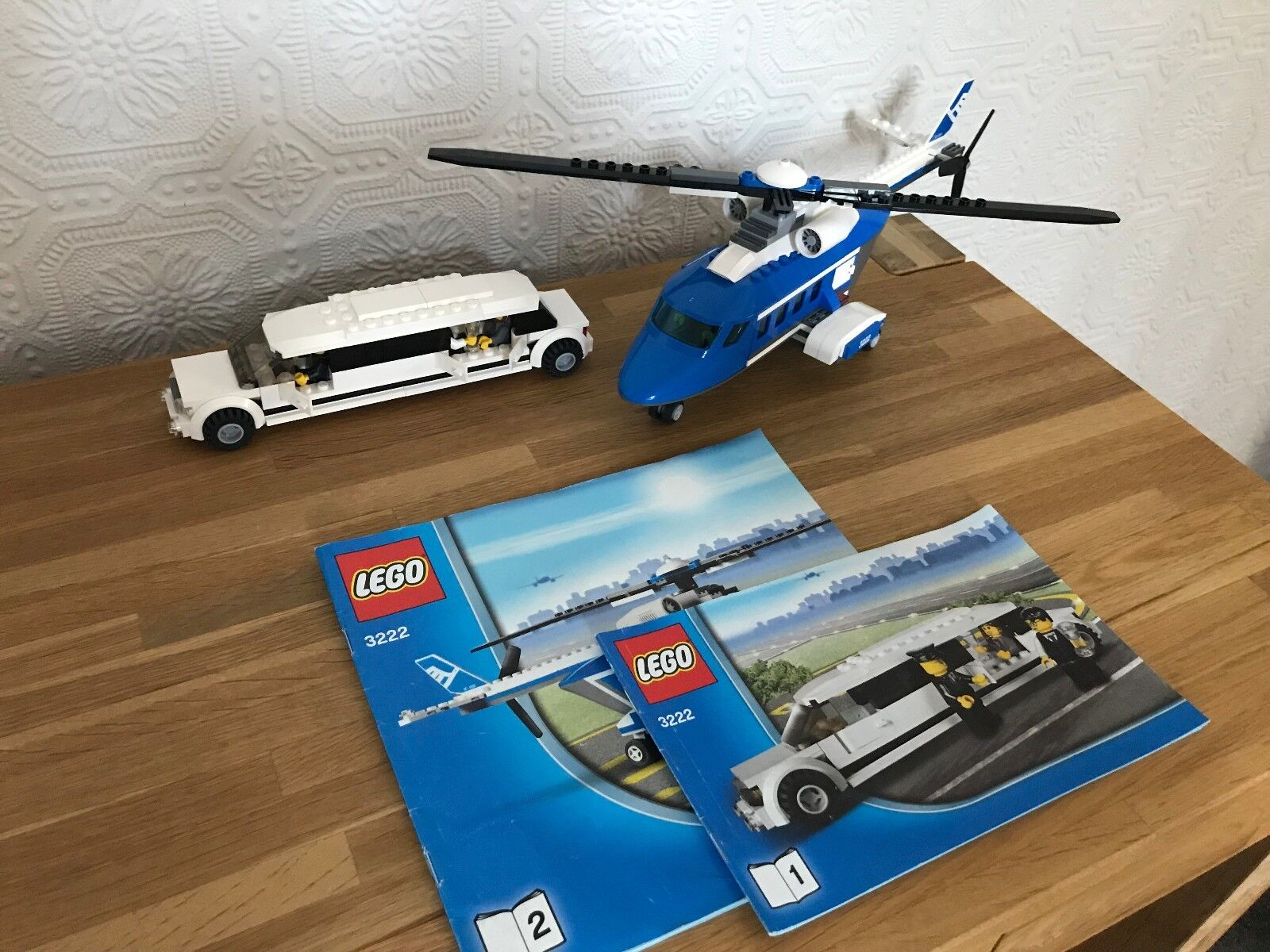 Lego City Helicopter & Limousine (3222) 100% Complete, Instructions, No box