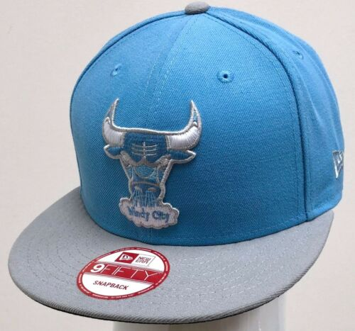 NEW ERA 2TONE 9FIFTY SNAPBACK CUSTOM NBA CHICAGO BULLS Sky Blue//Grey