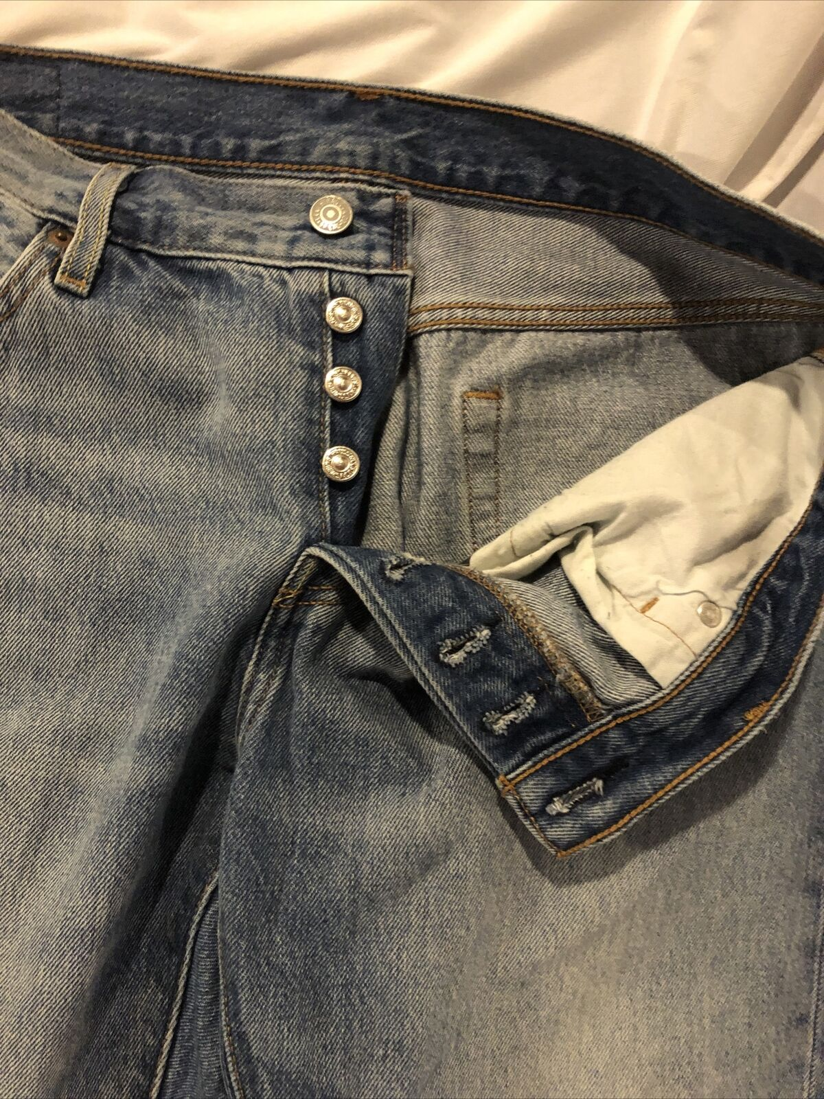 Levis Distressed 501 CT Jeans Size 28/32 - image 9
