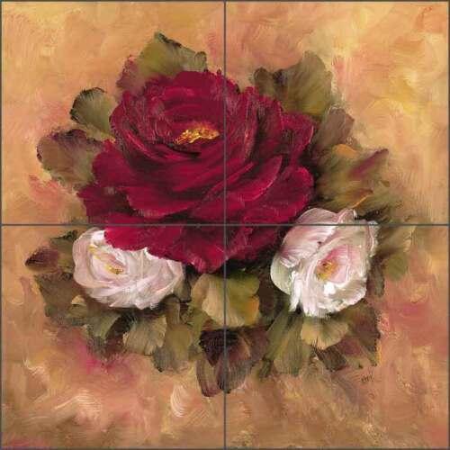 Ceramic Tile Mural Backsplash Cook Roses Flower Floral Art CC025