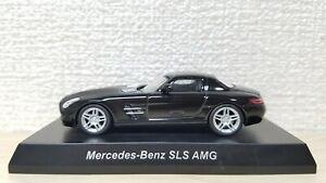 1-64-Kyosho-MERCEDES-BENZ-SLS-AMG-BLACK-diecast-car-model
