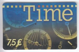 FRANCE-TELECARTE-PHONECARD-PREPAYEE-7-50-TIME-MONTRE-WATCH-12-08-N