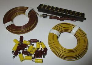 Connecteur-2-6mm-Conducteur-Jumele-Et-Barre-de-Distributeur-avec-Fiche-034-Neuf